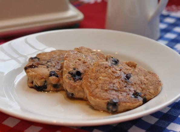 Gluten-free Blueberry Oatmeal Pancakes