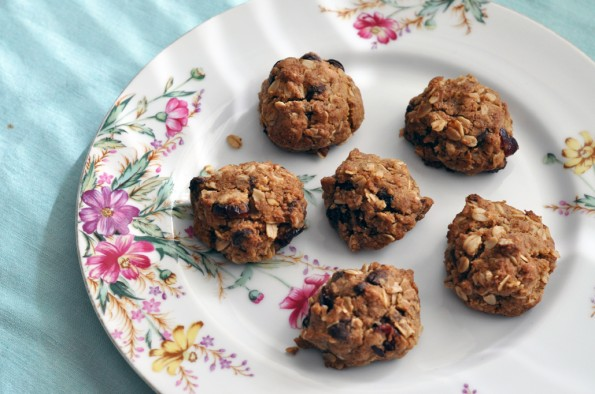 Gluten-free Oatmeal Chocolate Chip and Cranberry Drop cookies