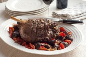 Lemony Roast Leg of Lamb with Roasted Vegetables