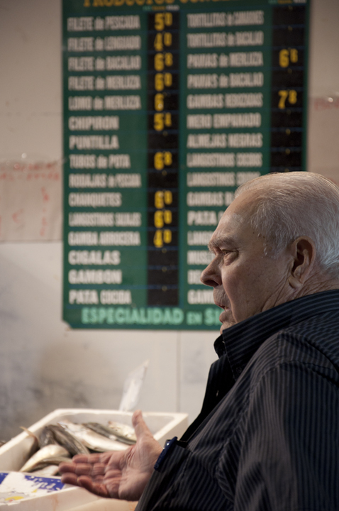 Man at Fish stall_Triana Market Seville