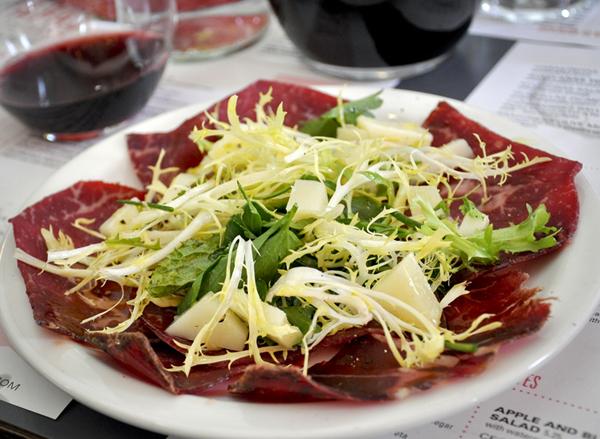 Tapas Brindisa Cecina (Air-Dried Beef) Salad
