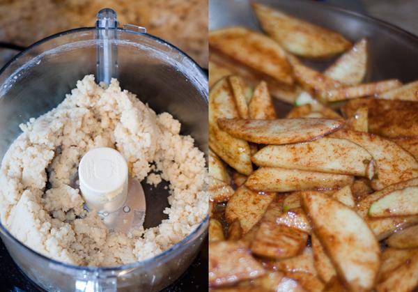 Tart dough and Sauteed Apples