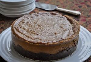 Pumpkin Souffle Pie with Gingersnap Crust