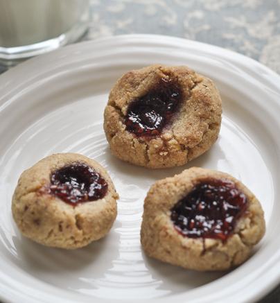 Raspberry Thumbprints Cookies