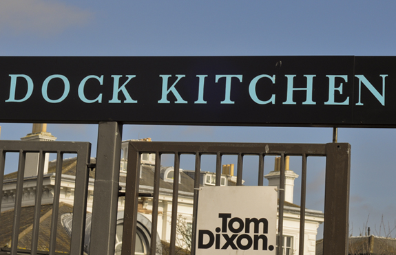 Dock Kitchen sign