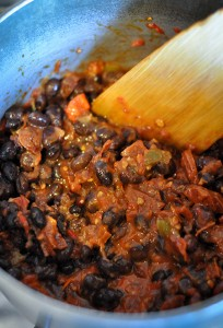 Spicy Beans with Salsa