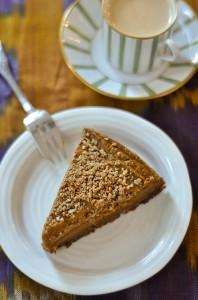 Gluten-free, Vegan Pumpkin Pie with espresso